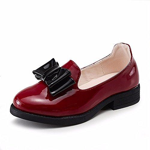 GTVERNH-Kenny coreano damas arco zapatos de princesa todos los partido piso con los estudiantes Treinta y dos