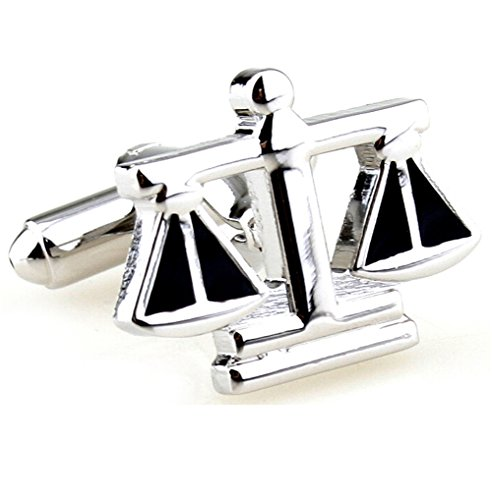 Hosaire Men's Cufflinks The Balance Cuff Link Delicate Cuff-link for Wedding Party Silver by Hosaire (Image #1)