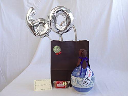 還暦シルバーバルーン60贈り物セット 麦焼酎 六花 25° 小手川酒造 720ml (大分県) メッセージカード付