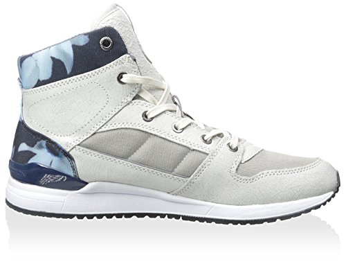 Connessione Francese Mens Charles Hightop Sneaker Bianco