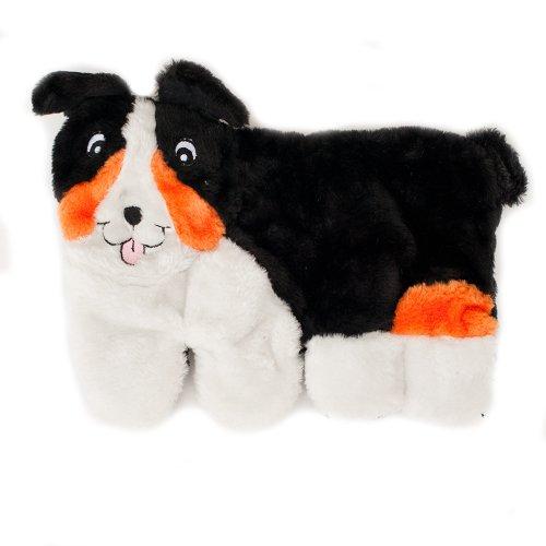 ZippyPaws Squeakie Pup 11-Squeaker No Stuffing Plush Dog Toy, Australian Shepherd