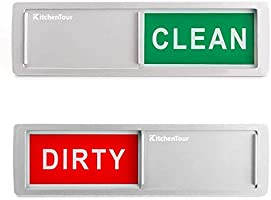 KitchenTour Clean Dirty Magnet for Dishwasher Upgrade Super Strong Magnet - Easy to Read Non-Scratch Magnetic Silver...