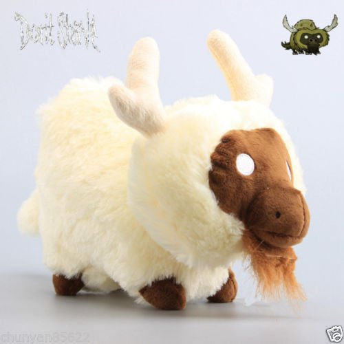 Diy Mad Hatter Halloween Costume (Shalleen New Game Don't Starve Beefalo White Caw Plush Toy Soft Stuffed Animal Doll 10'')