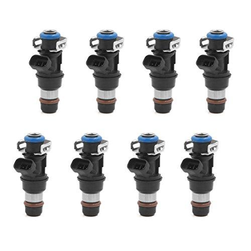 6 New Fuel Injectors (8 x New 28lb Fuel Injector Set Fit For GMC Cadillac Chevrolet 4.8 5.3 6.0 25317628)