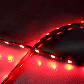 2x 12V 12LED 30cm 5050 SMD Strip Flexible Light Car Accessories Decor Waterproof