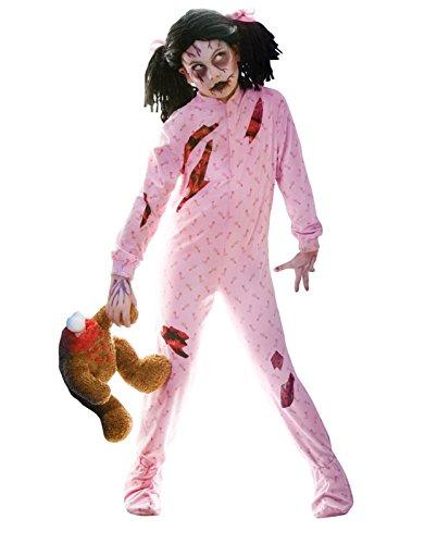 NEON ZOMBIE GIRL WALKING DEAD GIRLS COSTUME Halloween Cosplay Fancy Dress G10