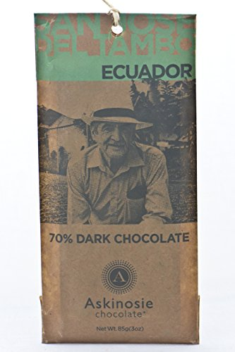Askinosie, Dark Chocolate Ecuador Bar, 85 Gram