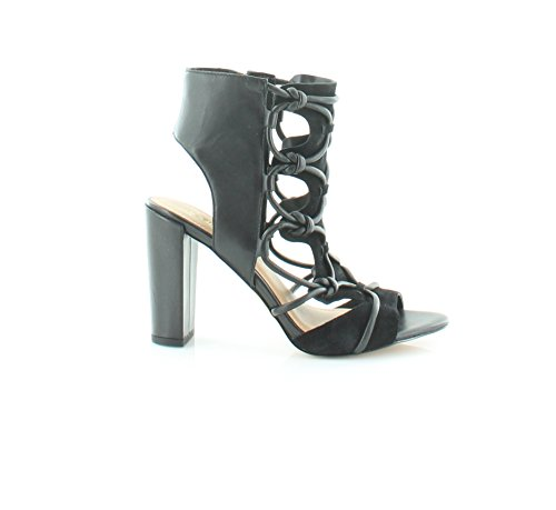 BCBGeneration Womens Fay Leather Open Toe Special Occasion Ankle Strap Sandals Black s1jaS