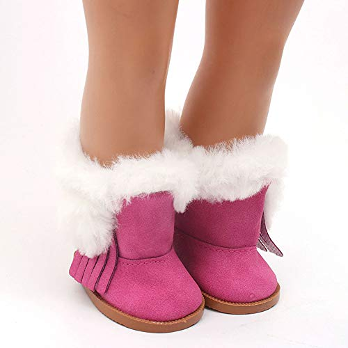 Wensltd Clearance! Doll Shoes Winter Snow Boot for 18 Inch American Girl Doll Accessory Girl's Toy (Hot Pink)