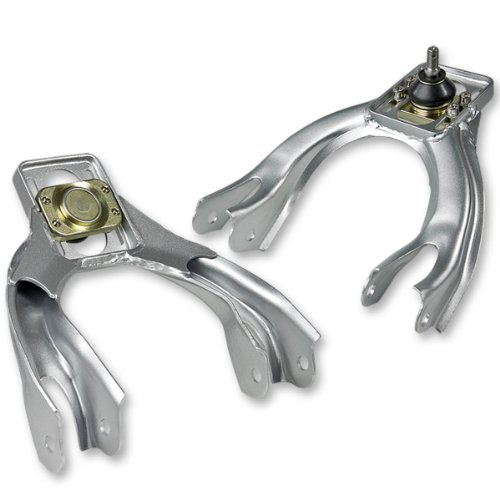 For 92-95 Honda Civic Performance Stainless Steel Adjustable Front Upper Camber Kit (Silver) - EG EH EJ ()