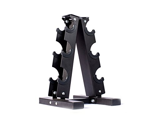 Fitness Alley Steel Dumbbell Rack - 3 Tier Weight Holder & 3 Tier Weight Rack Dumbbell Stand - Dumbbell Holder - Dumbbell Rack Stand - Weight Racks for Dumbbells of All Sizes by Fitness Alley (Image #4)