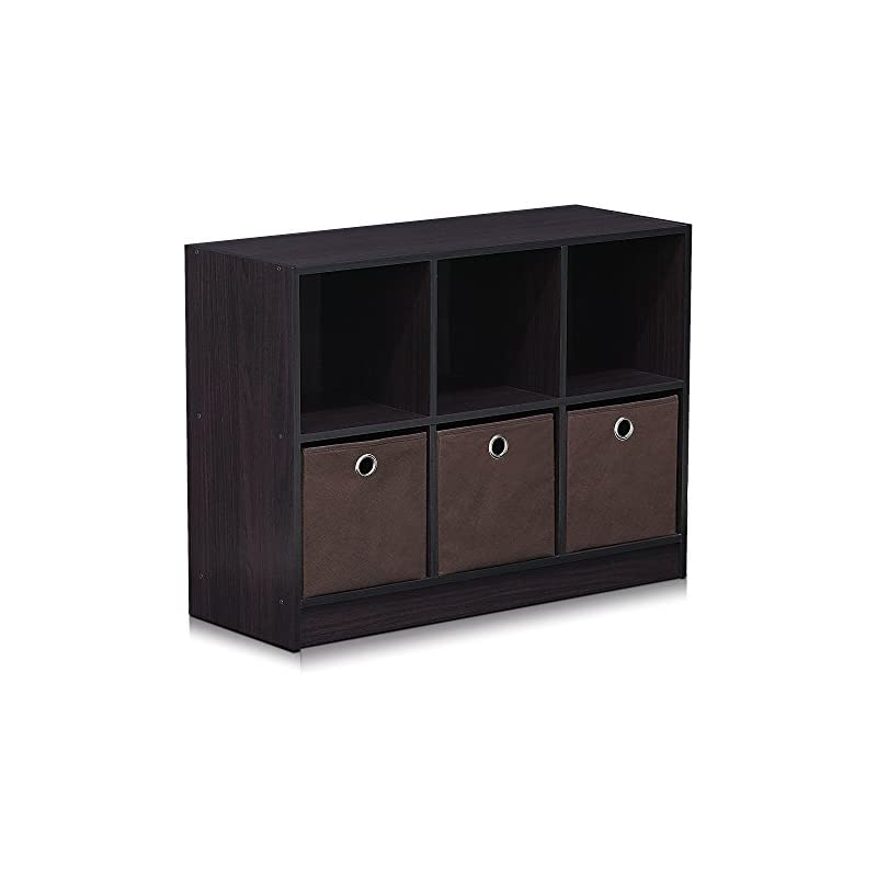 Furinno 99940DWN Basic 3x2 Bookcase Stor