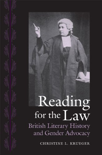 Reading for the Law: British Literary History and Gender Advocacy (Victorian Literature and Culture Series)