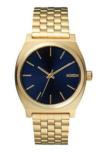 Nixon A0451931 Time Teller Blue Analog Dial Gold Steel Band Women Watch NEW, Man, Gentleman, Model:A0451931, Whristwatch, Wrist Watch