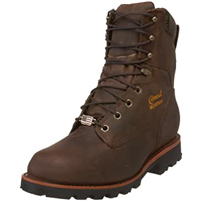 """Chippewa Men's 29416 8"""" Waterproof Insulated Work Boot,Bay Crazy Horse,6 E US"""