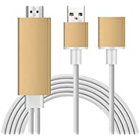 eBerry MHL to HDMI Cable 6Ft/1.8M, Plug and Play Digital AV Adapter (Female to Male) High-Speed 1080P HDTV Cable for iPhone, iPad, Samsung Smartphones