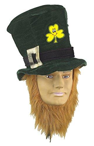 [Forum St. Patrick's Day Costume Party Accessory Irish Hat w/ Beard, Green, One Size] (St Patrick The Saint Costume)