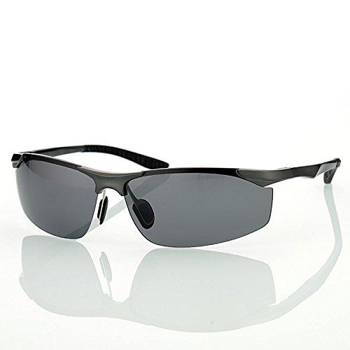 masculino aleación gafas sol Guía de Gafas gris Gafas estilo sol hombres de de magnesio Gafas conductores Grigio aluminio de polarizado los para TIANLIANG04 de de xU6dwzII