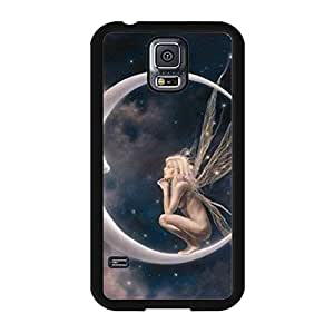 Samsung Galaxy S5 I9600 Mobile Shell Individual Character 3D Phone Case Snap on Samsung Galaxy S5 I9600 Elves Dialogue With The Moon Pattern Cover