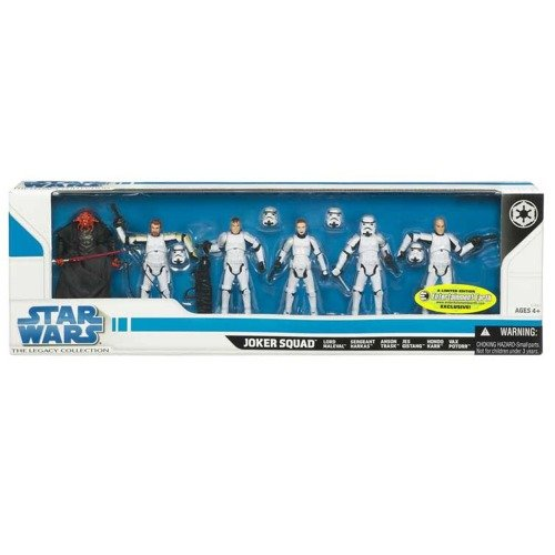 Hasbro Star Wars 2009 Exclusive Joker Squad Set Of 6 Action Figures (Includes First Ever Female Stormtrooper )