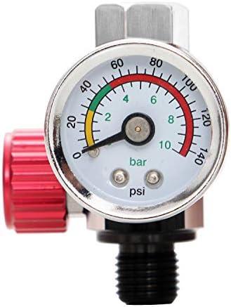 "1//4/"" Mini Air Regulator Valve Tool Tail Pressure Gauge w// Gauges Relief"