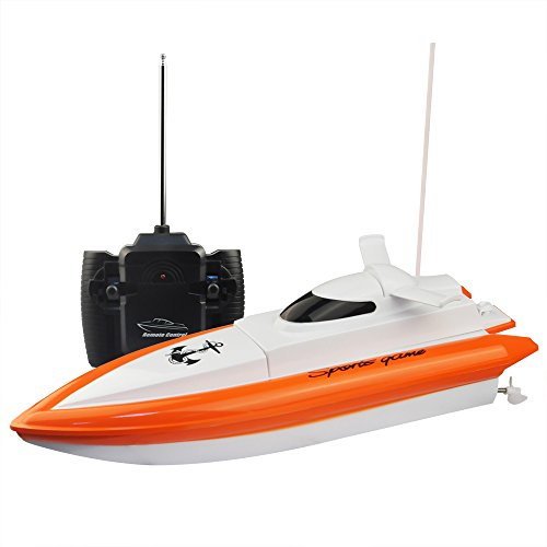 RC Boat,KingPow-DeXop  High Speed Electric Fast RC Boat Radio Remote Control Boat(The Motor And Paddle Have No Reaction On The Land) (Parts Rc Gas Boat)
