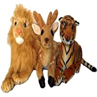 Agnolia Gift Gallery Stuffed Soft Animal Toy for Kids/Birthday Gift/Boy/Girl Combo of Deer,Lion and Tiger
