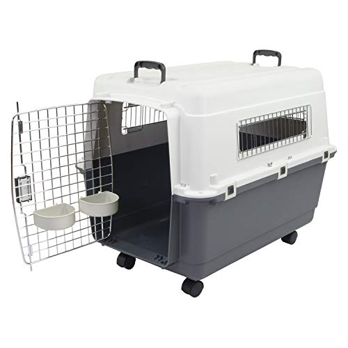 - Chesapeake Bay Heavy-Duty Rolling Airline Pet Crate-Large