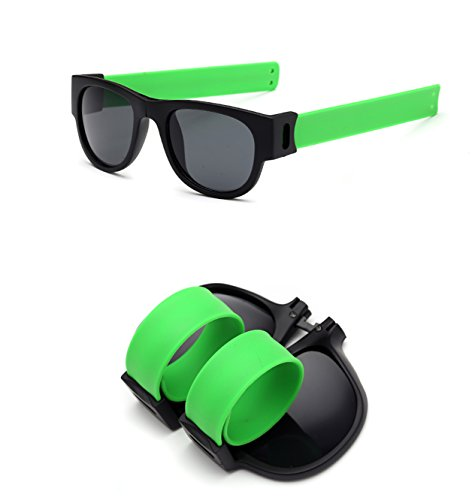 Foldable Sunglasses Polarized Lenses Flexible Silicone Frame and Temples with a Case - Fold That Sunglasses