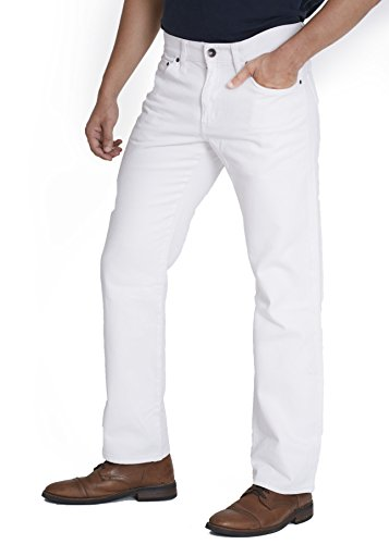 Sonoma Men's Straight Fit Jeans - White - Size (White Mens Jeans)