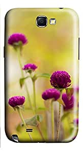 Samsung Galaxy Note II N7100 Cases & Covers - Colorful Purple Flower Custom PC Soft Case Cover Protector for Samsung Galaxy Note II N7100