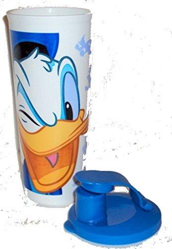 Tupperware 16 Ounce Tumbler with Flip Top Seal Walt Disney Donald Duck Design