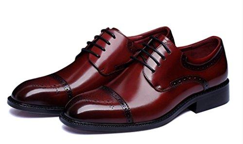 Nbwe Aangepaste Handgemaakte Zakelijke Schoenen Werkplek Mens Kleding Schoenen Trouwschoenen Wijnrood
