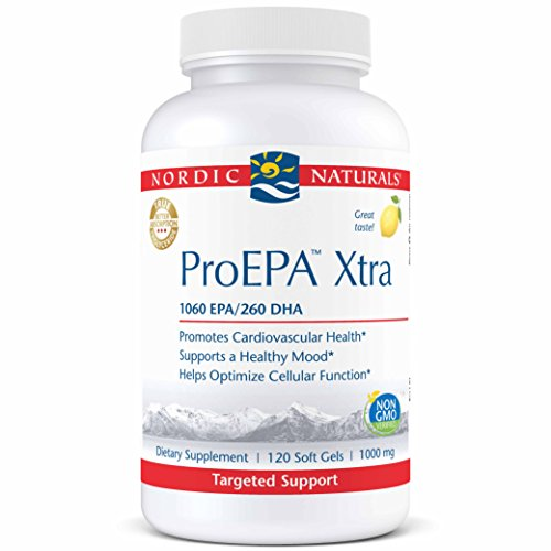 Nordic Naturals ProEPA Xtra- Fish Oil, 1060 mg EPA, 260 mg DHA, Targeted Support for Cardiovascular Health, a Healthy Mood, and Optimal Cellular Function, Lemon Flavored, 120 Soft Gels ()