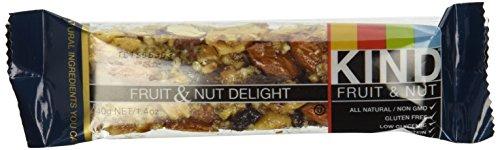 KIND Fruit & Nut, Fruit & Nut Delight, All Natural, Gluten Free Bars  1.4 oz. (Pack of 12)
