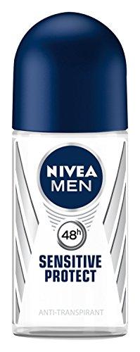 Nivea Men Sensitive Protect Deo Roll-on, Antitranspirant, 3er Pack (3 x 50 ml)