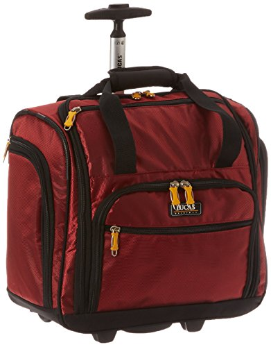 LUCAS 16' Wheeled Underseat Cabin Bag (16inch, Red)