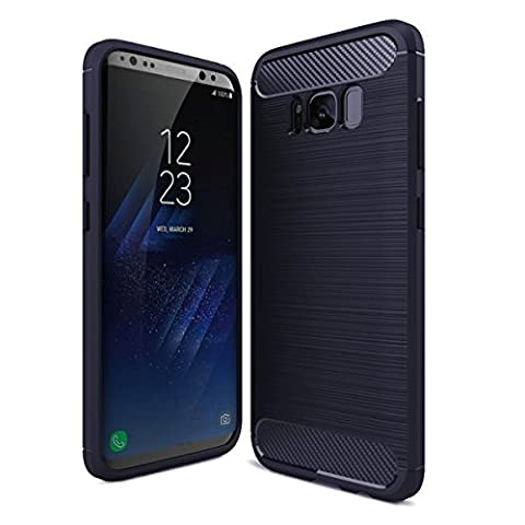 Galaxy S8 Plus Case (2017) by GAVIMAX With Shock Absorption and Carbon Fiber Design, Full-body Flexible Inner Protection, Rubber Soft Skin, Metal Texture, Slim TPU Armor (Affinity Technology Speakers)