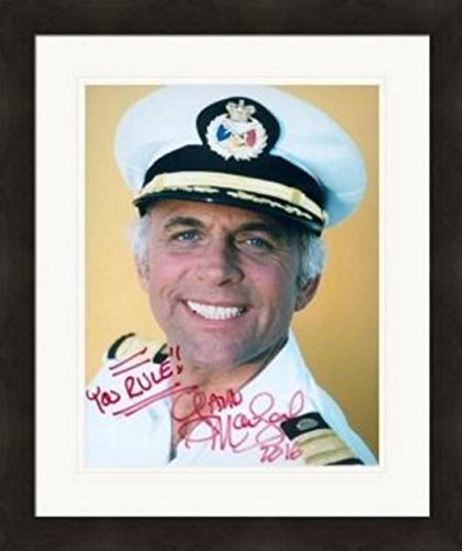 Gavin MacLeod autographed 8x10 photo (Love Boat Captain Merrill Stubing) #SC1 Matted & -