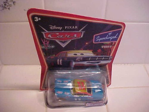 Disney Pixar CARS * Mario Andretti # 11 * SUPERCHARGED * Gold wheels & Gold r...