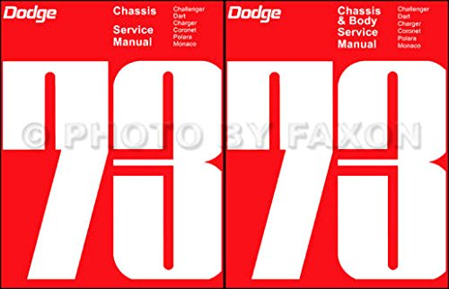 A MUST FOR OWNERS, MECHANICS & RESTORERS - THE 1973 DODGE CAR REPAIR SHOP & SERVICE MANUAL & BODY MANUAL SET INCLUDES: Challenger, Charger, Rallye, SE, Coronet, Dart Sport, Swinger, Custom, Polara, Monaco, Crestwood, and wagons. ()