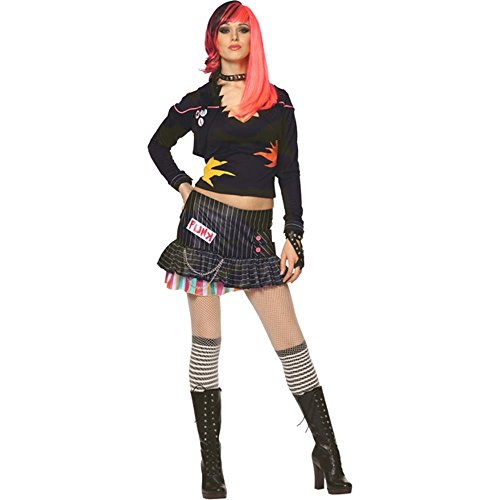 Punk Rock Girl Halloween Costume (Size: Small 4-6) - Girl Punk Rock Halloween Costume
