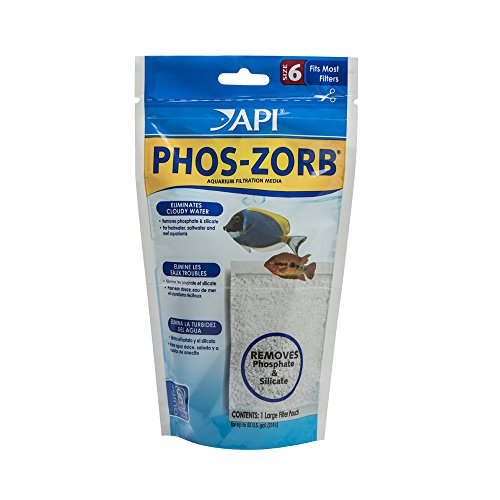 API PHOS-ZORB SIZE 6 Aquarium Canister Filter Filtration Pouch 1-Count ()