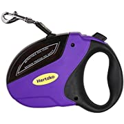 Amazon Lightning Deal 88% claimed: Heavy Duty Retractable Dog Leash By Hertzko - Great for Small, Medium & Large Dogs up to 110lbs - Strong Nylon Ribbon Extends 16ft