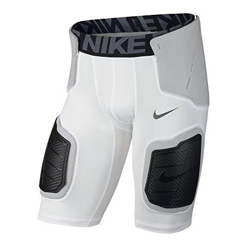 Nike Pro Hyperstrong Core 839933-100 White/Black Hardplate Mens Football Short (size Large)