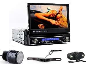 "Amazon.com: Generic 7"" Touch Screen In dash Car Stereo DVD Player GPS Navi - Single Din, IPod"