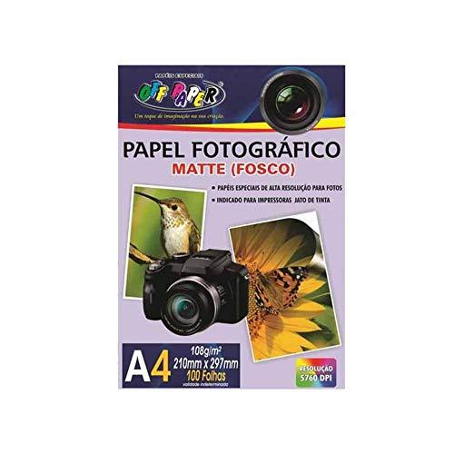 Papel Fotografico, Off Paper, 10065, Branco