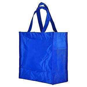 Piano Keys Music Waterproof Oxford Cloth Handbag Shoulder Tote Shopping Bag Gift (Blue-Small-2)