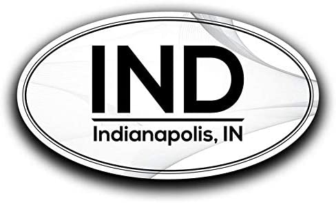 More Shiz IND Indianapolis Indiana Airport Code Decal Sticker Home Travel Car Truck Van Bumper Window Laptop Cup Wall MKS0577 Two 5.5 Inch Decals