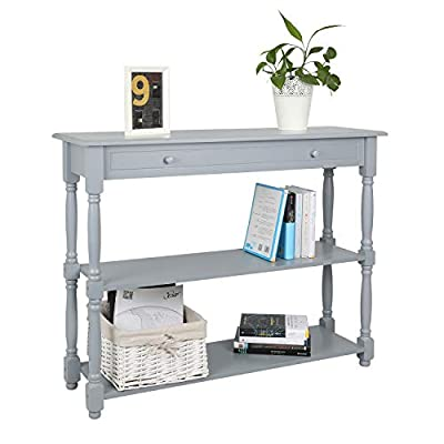 Hromee Sofa Console Table with 3 Tier Shelf Furniture for Entryway Living Room Easy Assemble -  - living-room-furniture, living-room, console-tables - 41UsiL08iML. SS400  -